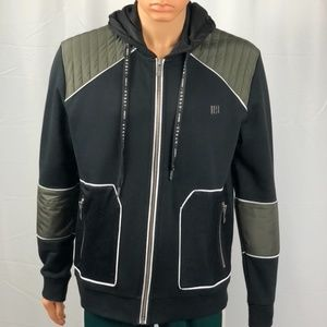 LES HOMMES URBAN ZIP-UP HOODIE JACKET SIZE XL